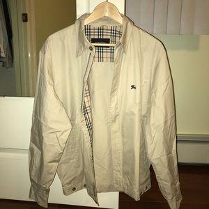 Beige Burberry Harrington Jacket